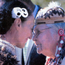 Aggie greets Maori friend in New Zealand