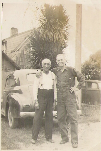 Grandpa Charles Baker and George Baker (Coos)