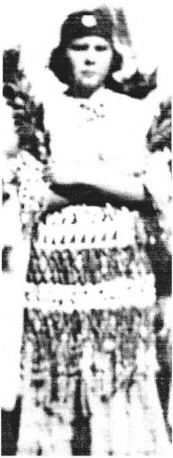 Aggie in Feather Dance regalia, 1930s