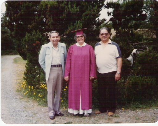 Southern Oregon University Graduation, with brothers George and Lloyd, 1985