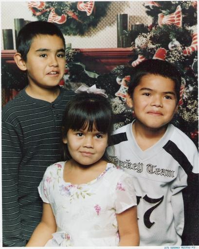 Great grandkids Santee, Devon, and Keauna