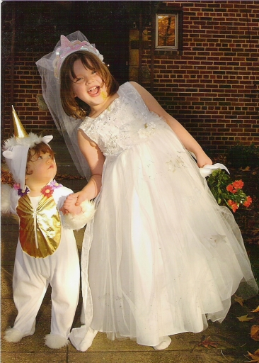 Great grandkids Diana and Charlotte Harrington, 2004