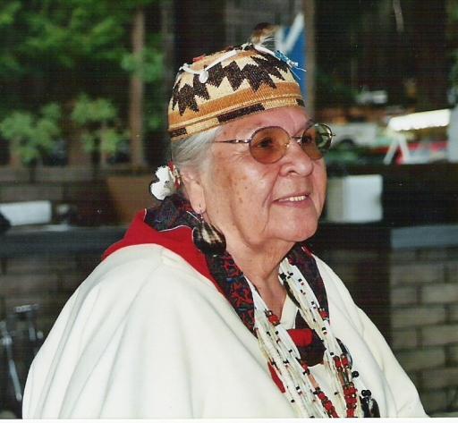 Aggie at the Siletz PowWow, 2000s