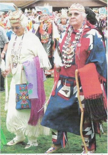 Aggie with Gladys Bolton at the Siletz PowWow