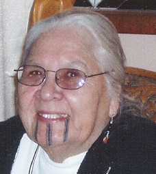 "Aggie with new traditional ""111"" tattoo by New Zealand Maori elder, 2000"