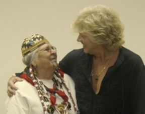 Aggie with John Lodge at Moody Blues Concert