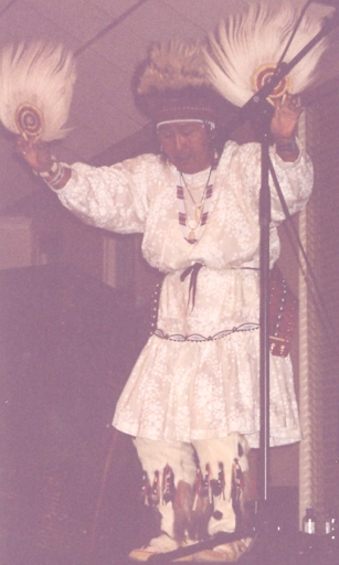 Yupik dancer, Marie Meade, at Council Meeting in New York, 2004