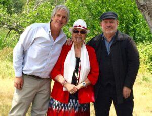 Steve Kiesling, Agnes Pilgrim, and Thomas Doty (Tish McFadden photo)